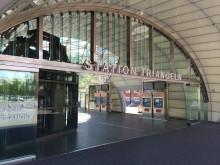 Rengöring glaskupoler Triangelns station Malmö