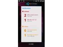 M2M Dashboard mobile app screen 3