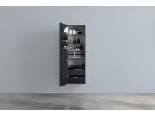 Aspen A Högskåp 500x1600 mm  med hyllor, lådor, dörrfack, smyckes-/sminklådor