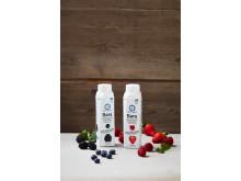 Bara drickyoghurt i två omtyckta smaker: blåbär & björnbär och hallon & jordgubb