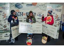 Pallen Burton High Fives, World Snowbaord Tour