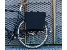Shoppingkasse för cykeln, svart filt