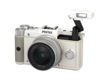 Pentax Q hvid med flash
