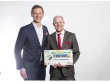 Svenska PostkodLotteriets Förmånstagarfest 2016, Rikard Sjöberg och Lars Lundström