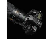 Pentax HD konverter 1,4x AW montert på kamera