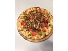 Pizza med melormer