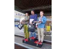 Tre vinnere på seierspallen NM i Slappa Trondheim