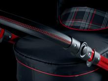 Klassiske GTI-detaljer kendetegner kombivognen fra Volkswagen, fx de røde stikninger på styretøjet