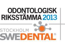 Odontologisk riksstämma och Swedental hålls på Stockholmsmässan 14-16 november 2013