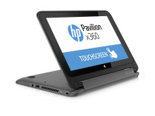 HP Pavilion x360 stand mode  Right facing