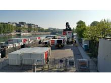 Franska fartyg går in till Paris