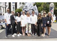 Christopher Waldekrantz, Sebastian Brännén, Maria Lashari, Olga Lillienau, Amelie Farmer, Filip Myringer, Ebba von Zweigbergk, Sofia Bleiweiss och Camilla Wallander i Cannes 2016