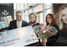 Gunilla Backman får SJs och Tidskriften Operas musikalpris