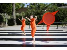 Dansbana! ArkDes. På Skeppsholmen kan besökare spontandansa. Design Föreningen Dansbana!