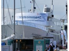Hållbarhetsarenan ombord på Teaterskeppet i Visby hamn under politikerveckan i Almedalen