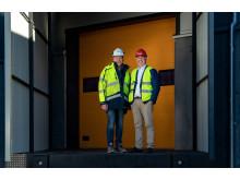 Niklas Jonsson och Patrik Lööv från Logistic Contractor.