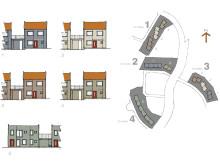 Illustration över husmodeller i Sundsstrand