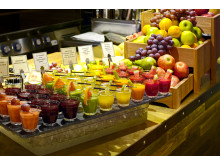 Frokost-juice på Scandic Ishavshotell