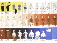 Marie-Louise Ekman, Striptease, 1973, olja på duk, 63 x 90 cm
