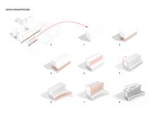 Processbild, Kista profilbyggnad. Bild: Dreem Arkitekter