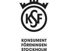 Logotyp svart, stående, Konsumentföreningen Stockholm