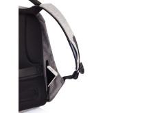 Den stöldskyddade ryggäcken har ett dolt fack på insidan för mobilen