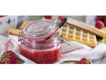 Jordbærsyltetøy på Norgesglass