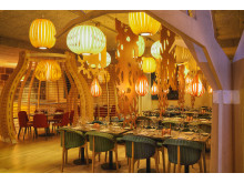 The restaurant at The Well Spa, Oslo, Norway, designed by Stylt Trampoli