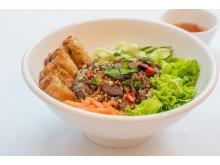 L'euphởriz Sautéed Beef and Spring Rolls Vermicelli Salad/ Bún Bò Xào Chả Giò