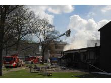 Brandslukningsarbejde i forbindelse med branden på Frihedsmuseet den 28. april 2013