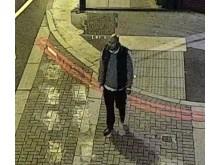 Graden captured on CCTV shortly before the Spitalfields attack