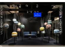 Färgglada tvättställ som utgör lampor, serien Artis från Villeroy & Boch