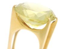 Moderna 15/6, Nr: 76, REY URBAN, ring, 18K guld, ovalslipad citrin ca 17,00 ct
