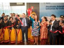 Ribbon cutting Air India_Arlanda