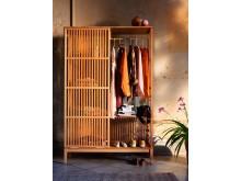 NORDKISA åbent garderobeskab, bambus 1699.-