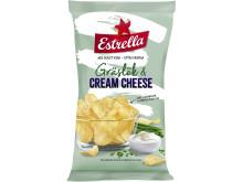Estrella Potatischips Gräslök & Cream Cheese 2018