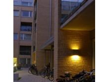 Bild 2. Fox Design belysning till kv. Kappseglingen i Hammarby Sjöstad.