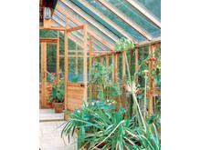 Växthusinredning i cederträ