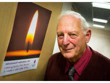 REMEMBER: Henry West MBE, former chairman fo Middleton Township and himself a holocaust survivor at the Holocaust Memorial Day service for Rochdale borough