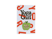 Yoga Girl Apple pin on card