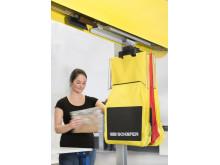 SSI Carrier-systemet er et ekstremt kompakt og alsidigt hængende transportsystem til varer med en vægt på op til 3 kg