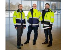 Från vänster till höger: Claes Danielsson, Peter Fahlstad och Erik Carlson.