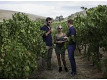 Chris Hemsworth ja Elsa Pataky Jacob's Creekin pääviinintekijä Ben Bryantin kanssa