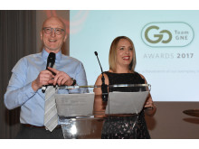 Gary and Lisa compare the Team GNE Awards