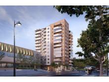 Tolvvåningshuset blir ett nytt landmärke i Kristianstad.