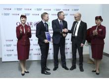 Qatar Airways mottar Göteborgs Stads Nyckel för Årets utländska etablering