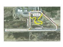 Skövde flygplats - ritning över ombyggnaden för STCC Volvo Race och RallyX