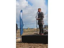 Groundbreaking at Blue World Technologies - Thomas Kastrup-Larsen, Mayor of Aalborg