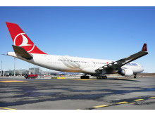 Turkish Airlines A330 at Oslo Airport