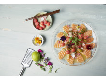 Carcpaccio Salmon Sandia